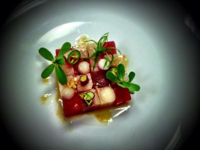 06.10.13 - Hamachi, Compressed TX Watermelon